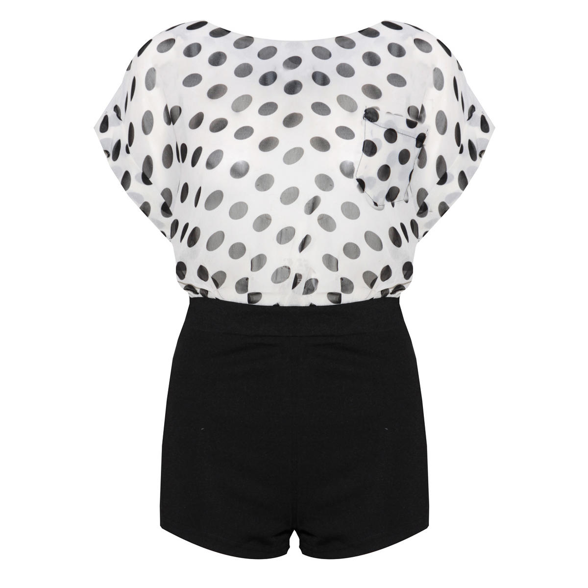 SIZE 12 ONLY Monochrome Polka Dot Playsuit Preview